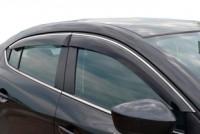 Дефлекторы на окна тонированные с хромированным молдингом Cobra Tuning